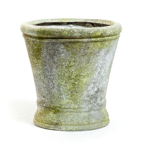 White Moss Fiberstone Haven Small Pot