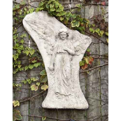 Orlandi Statuary Inc. Broken Winged Angel Plaque 25 Fiberglass - Cathedral White Finish