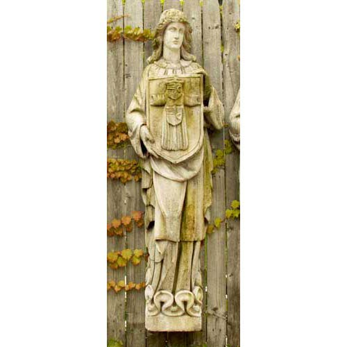Orlandi Statuary Inc. Belfast Figure Fiberglass Statue - White Moss Finish