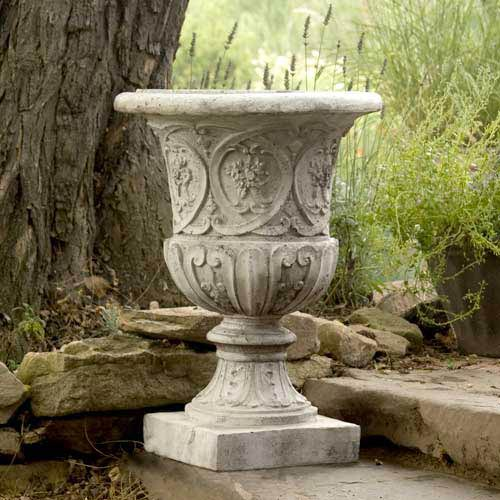 Lippie Urn Fiberglass - Cathedral White Finish