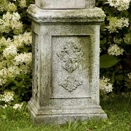 Grif 26-Inch Fiber Stone Pedestal - White Moss Finish