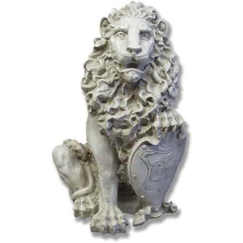 Orlandi Statuary Inc. Antique Stone Richelieu Lion Left