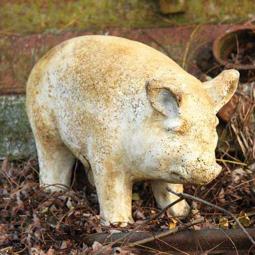 9.5-Inch Fiberglass Pig Statue - Pompeii Finish
