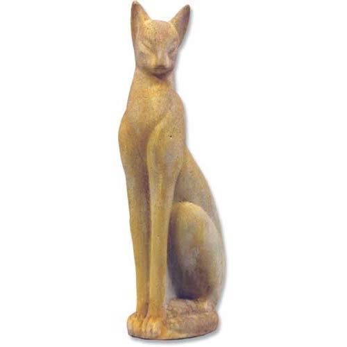 White Moss Classy Cat Statue