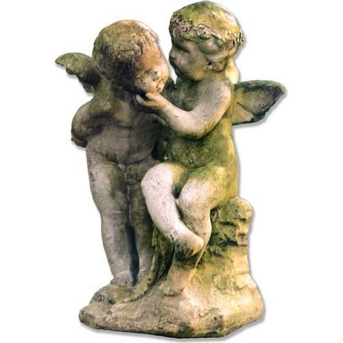 White Moss Two Cherubs Playing