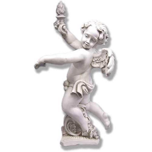 Antique Stone Rococo Angel Left