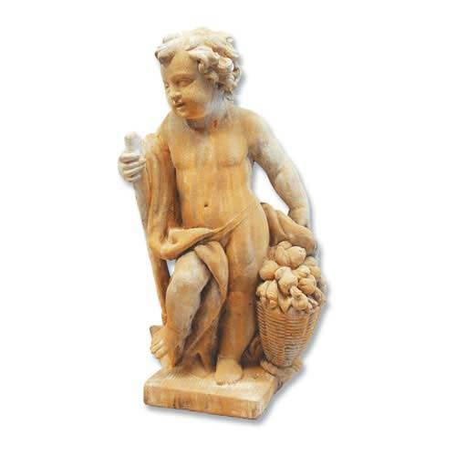 Pompeii Harvest Cherub Outdoor Statue