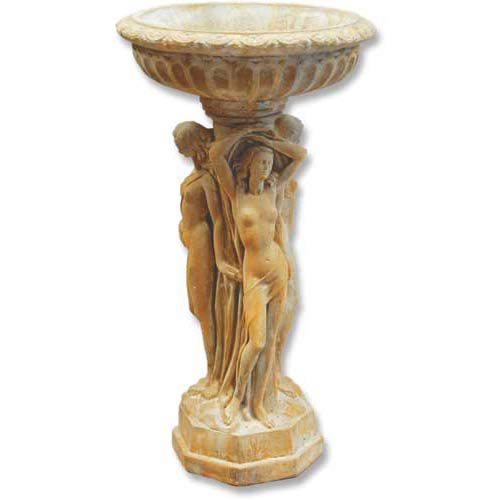 Orlandi Statuary Inc. Pompeii Three Muse Birdbath