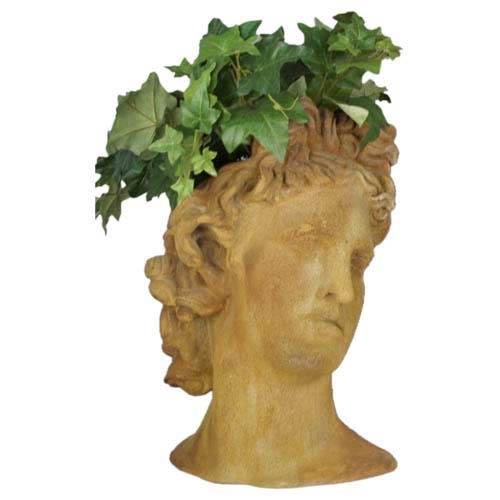 Orlandi Statuary Inc. Pompeii Apollo Head Outdoor Planter
