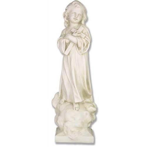 Orlandi Statuary Inc. Antique Stone Christ Child with Cross Statue