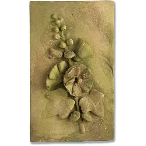 Verde Hollyhock Plaque