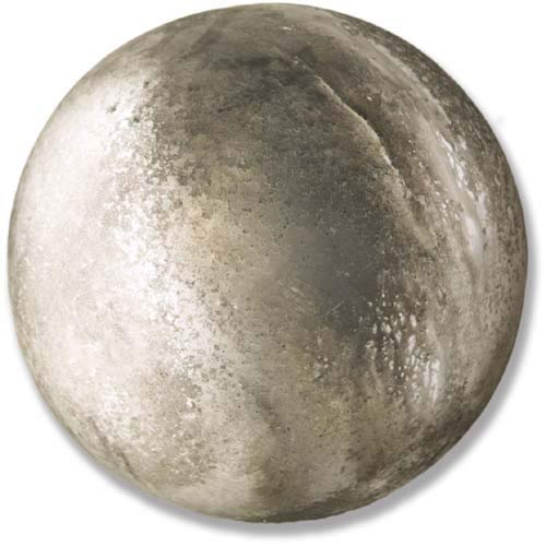 Soot 12-Inch Garden Finial Sphere