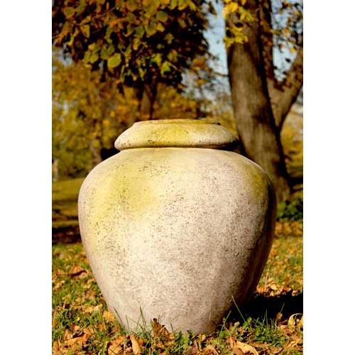 Orlandi Statuary Inc. 24-Inch Fiberglass Jar - White Moss Finish