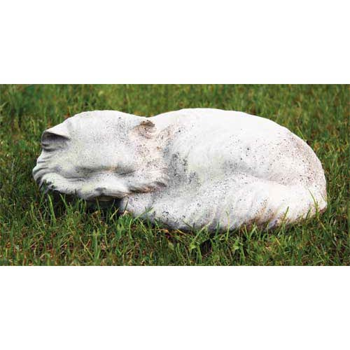 Fat Cat Fiberglass Statue - Cathedral White Finish