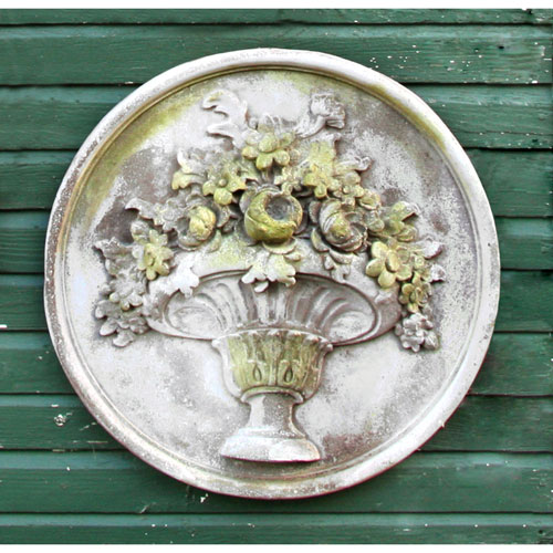 White Moss Flower Bouquet Plaque
