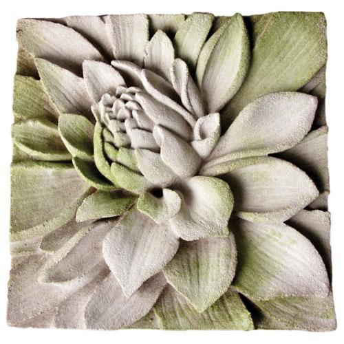 White Moss Dahlia Plaque