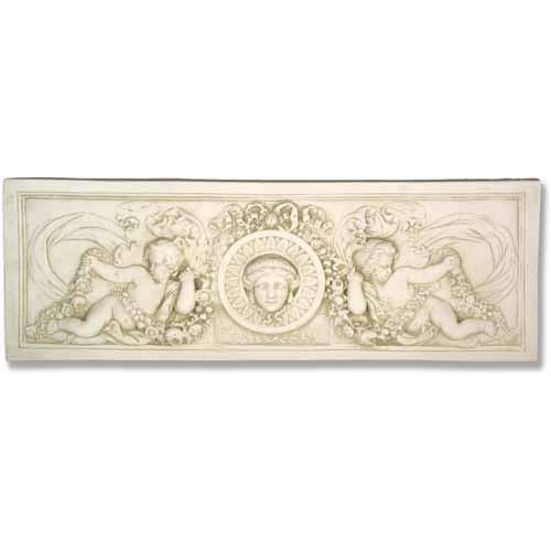 Cathedral White Cherub Victorian Plaque