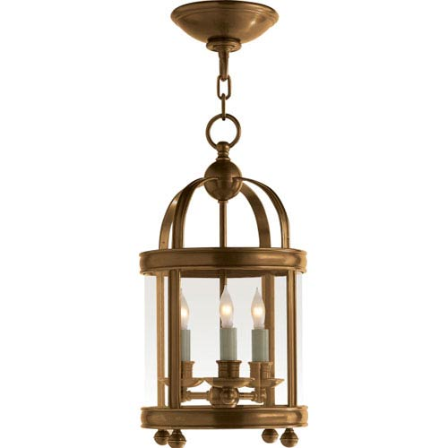 Edwardian Antique Burnished Brass Mini Lantern