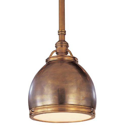 Antique Brass Edwardian Pendant