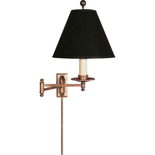 Visual Comfort and Company Antique Brass Dorchester Swing Arm Light