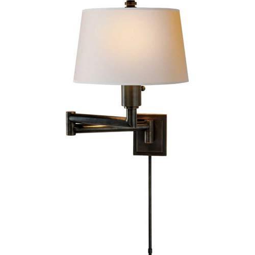Bronze Chunky Swing Arm Wall Light