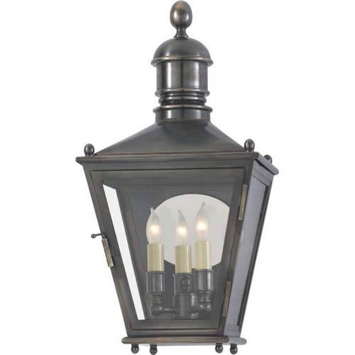 Bronze Outdoor Small Three-Fourths Sussex Lantern