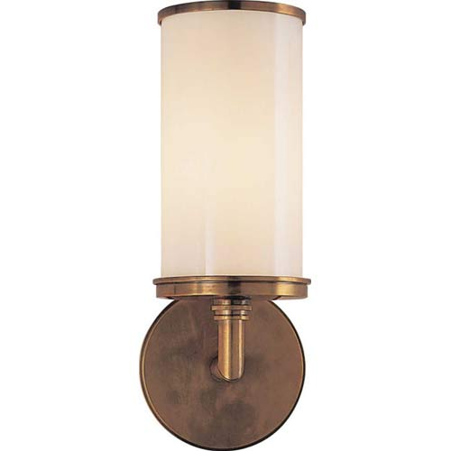Antique Brass Cylinder Sconce