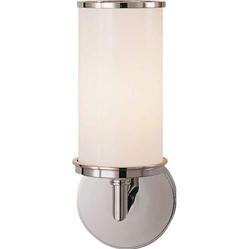 Polished Nickel Cylinder Sconce