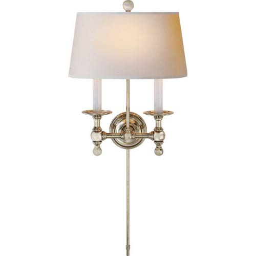 Polished Nickel Two-Light Classic Sconce
