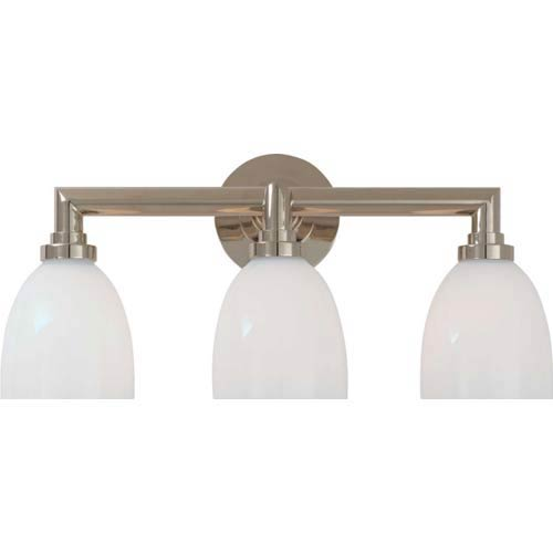 Visual Comfort and Company Polished Nickel Wilton Triple Bath Light