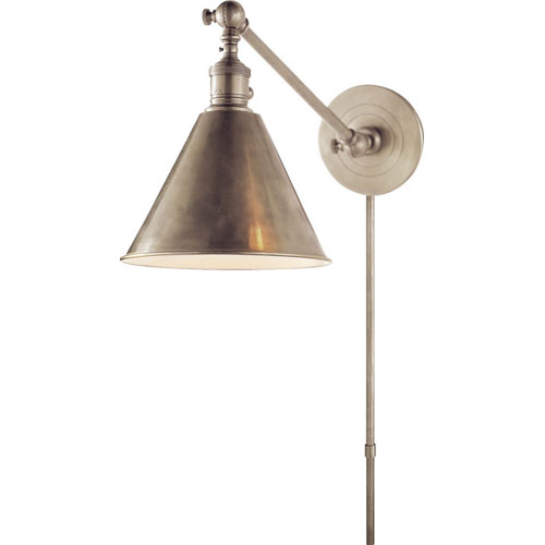 Antique Nickel Boston Functional Library Fixture