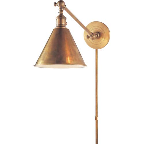 Antique Brass Boston Functional Library Fixture