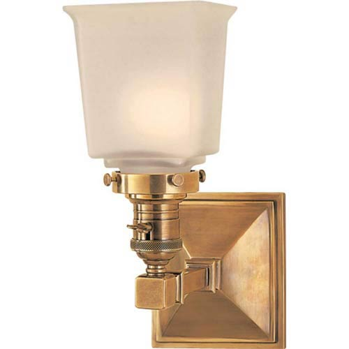 Antique Brass Boston Square One-Light Fixture