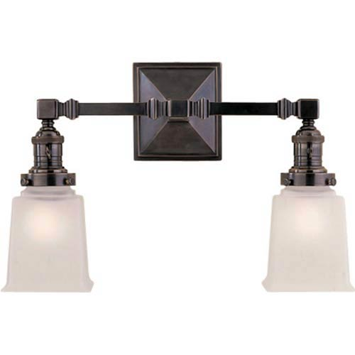 Bronze Boston Square Two-Light Fixture