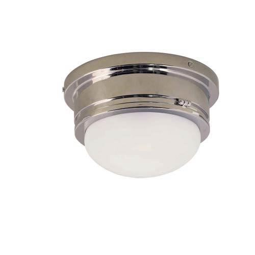 Medium Chrome Marine Flush Mount Ceiling Light