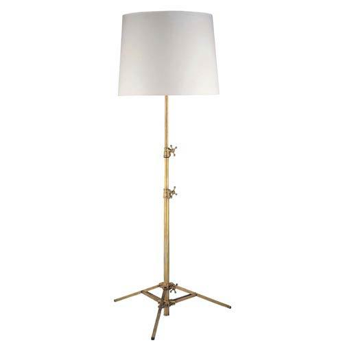Antique Brass Studio Adjustable Floor Lamp
