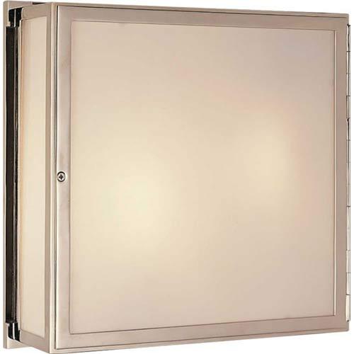 Polished Nickel Mercer Square Box Light