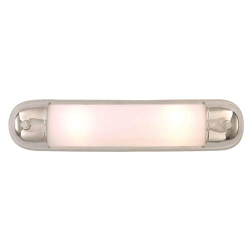 Polished Nickel Selecta Long Glass Sconce