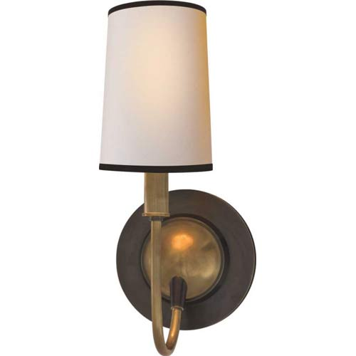 Bronze and Antique Brass Elkins Sconce