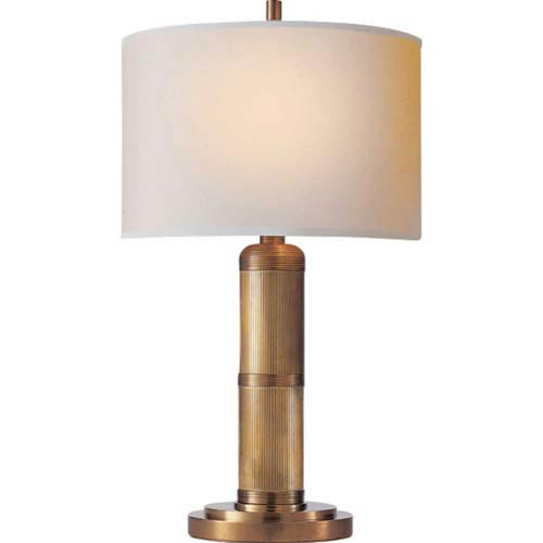Visual Comfort and Company Hand-Rubbed Antique Brass Longacre Small Table Lamp