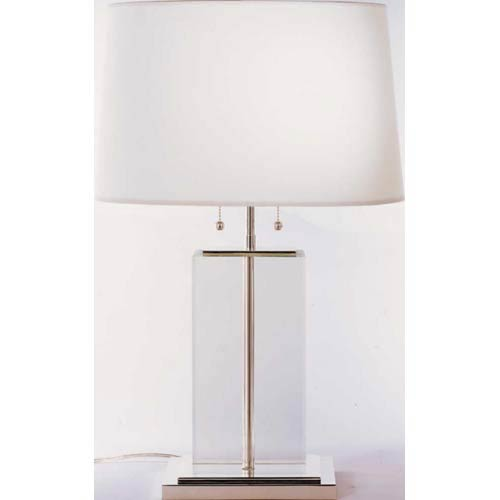 Crystal Large Crystal Block Table Lamp