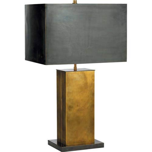 Hand-Rubbed Antique Brass Tall Dixon Table Lamp