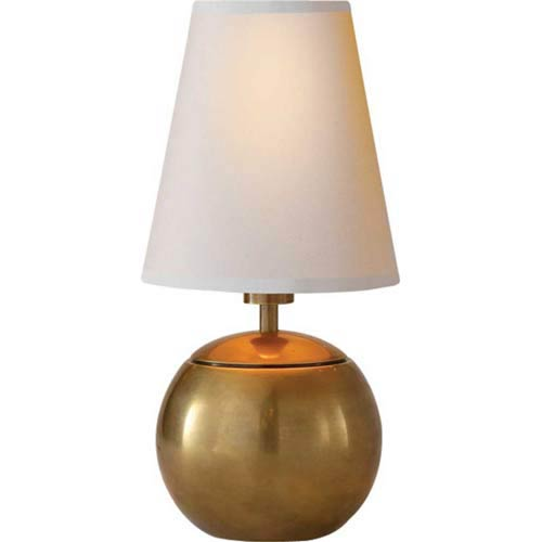 Hand-Rubbed Antique Brass Tiny Terri Lamp