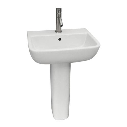 Series White 600 Pedestal Sink 1-Hole