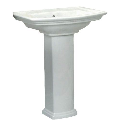 Washington White 550 Pedestal Sink 8 Inch Widespread