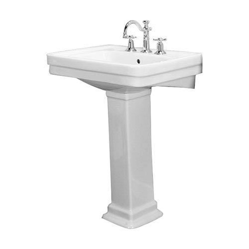 Sussex White 550 Pedestal Sink 8-Inch Widespread
