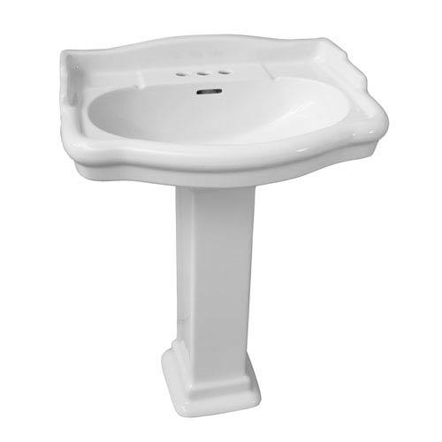Stanford White 600 Pedestal Sink 4-Inch Centerset