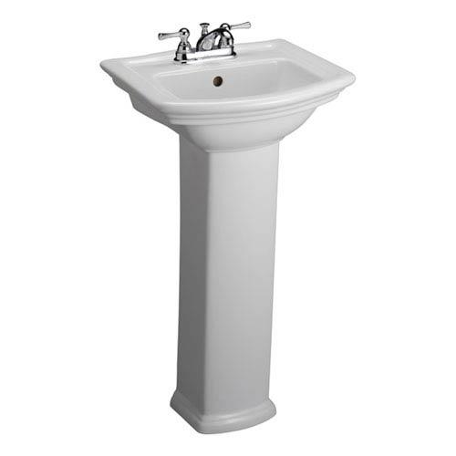 Washington White 4-Inch Spread Pedestal Sink