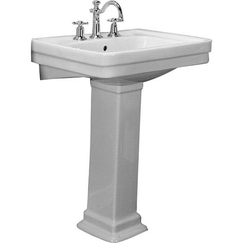 Sussex White 8-Inch Spread Pedestal Sink