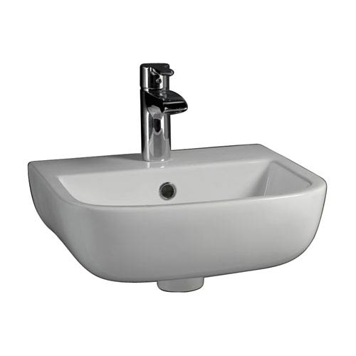 Series White 600 Wall-Hung Basin 15-3/4-Inch 1-Hole